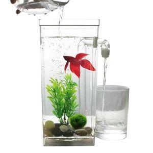 AQUARIUM LED Mini Reservoir de poissons Aquarium Auto-netto