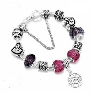 BRACELET - GOURMETTE 20 cm Bracelet Charm Arbre de Vie Style Pandora Ar