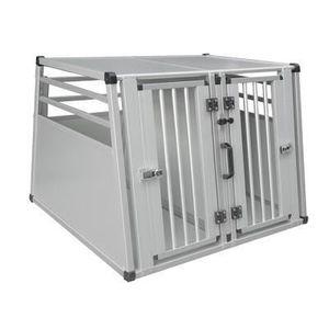 CAISSE DE TRANSPORT Box transport alu+mur sép. 2 chiens 88x92x68cm XL