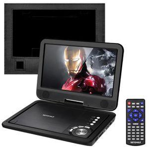 LECTEUR DVD PORTABLE VETOMILE Lecteur DVD portable - Écran rotatif 10,5