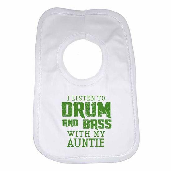 Je l/'écoute de drum /& bass avec mon momie-nouveau Bavoir bébé personnalisé-Unisexe
