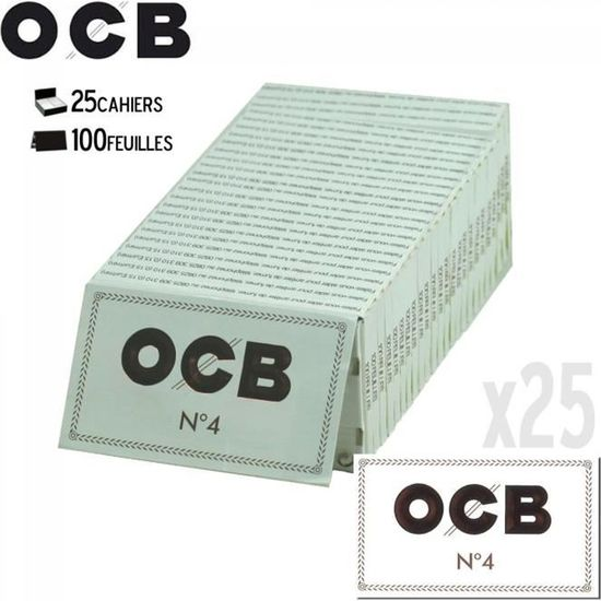 OCB N°4 BLANC PETIT FORMAT X25