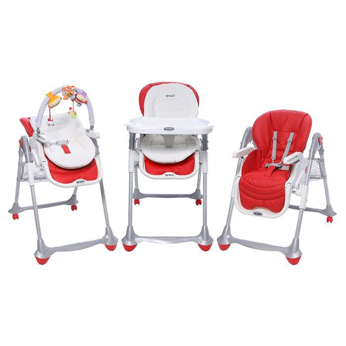 BREVI Chaise B FUN 3en1 Rouge