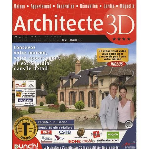 Architecte 3d gold cad 2007 logiciel pc dvd ro achat for Architecte 3d video