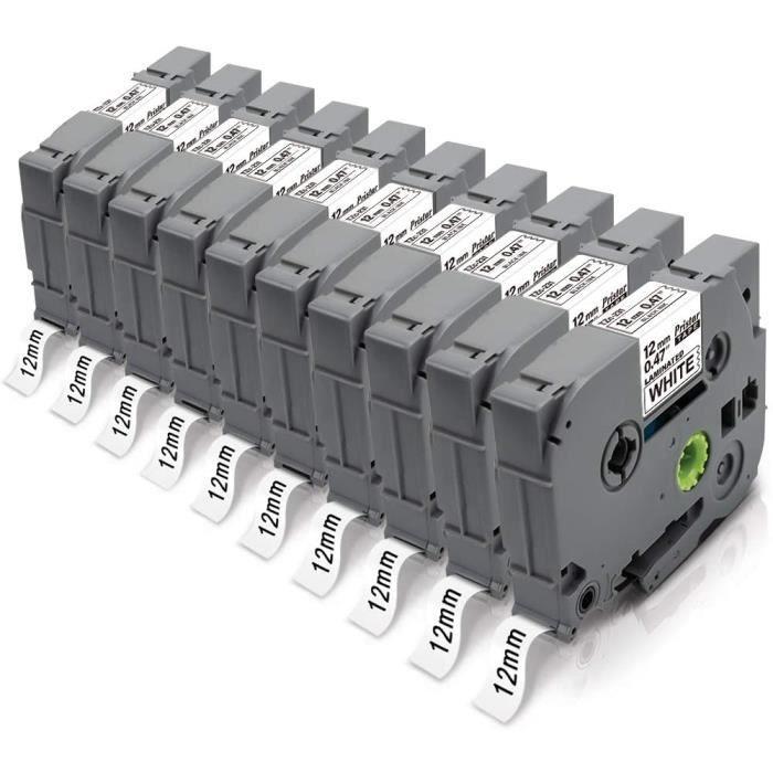 12mm TZe-231 TZe231 Laminé Ruban Cassettes, Compatible pour...