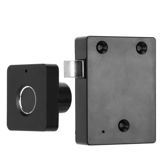 Serrure biométrique d'empreinte digitale anti-vol panneau sans clé armoire de tiroir bureau à domicile (argent)