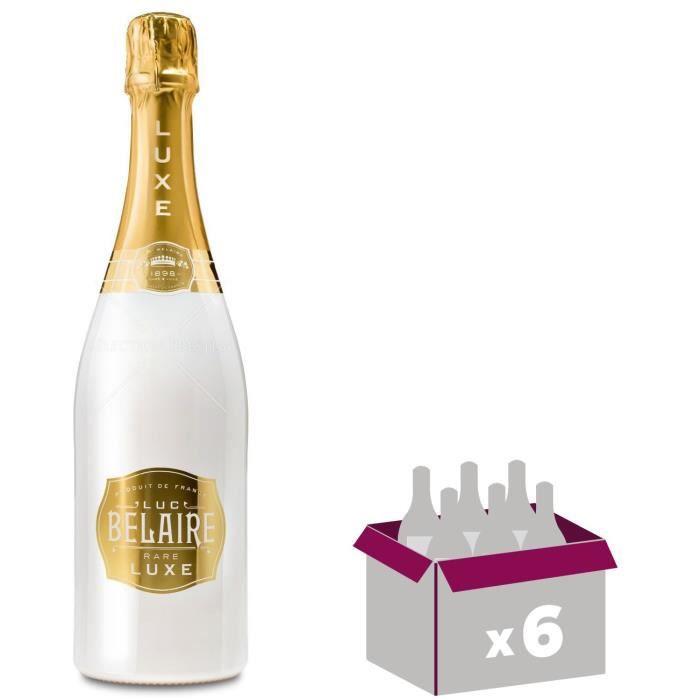 Lot de 6 - Luc Belaire Rare Luxe - 6x75cl - Vin Blanc