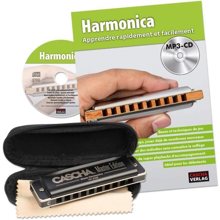 Instruments à vent CASCHA Harmonica set pour apprendre, l'harmonica en do majeur diatonique, avec live, étui et drap d'e 22813
