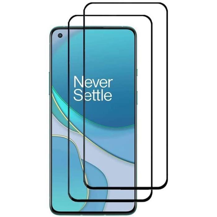 OnePlus 8T Protecteur d'écran,[9H Dureté,Couverture Totale,Aucune Bulle,Empreinte Digitale],Film Verre trempé HD Anti-RayuE