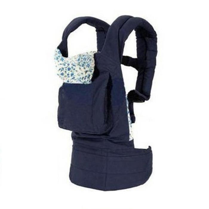 Bleu Porte Bébé Nouveau-né Carrier Confort Sac à dos Sling Wrap