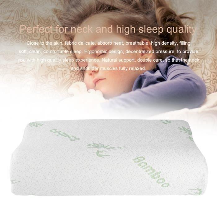 2 PCS Bon Sommeil POUR VOUS Oreiller de mémoire en fibre de polyester 50*30*10cm pour Cou orthopédique Soins de Santé