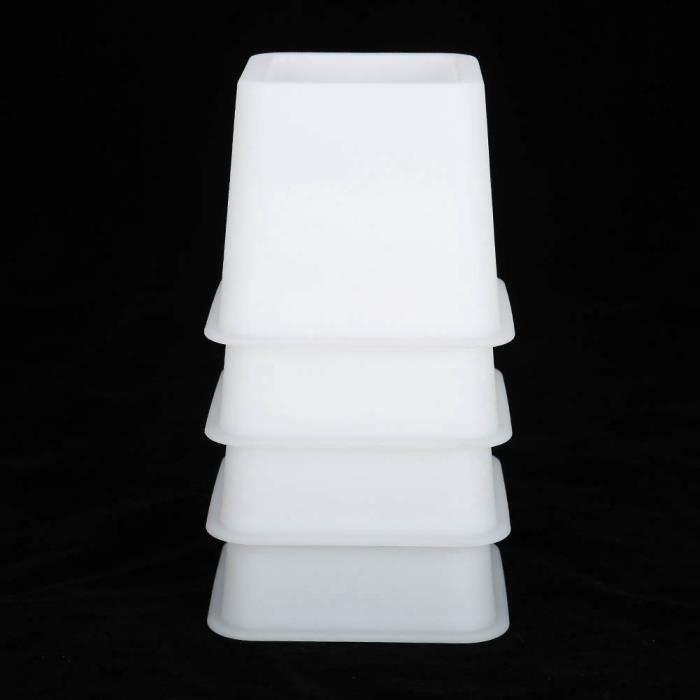 Lot de 4Pcs Rehausseur Pieds de lit, Élévateur de lit,Pied de Meuble (Blanc) LIUXSHOP