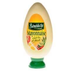 BENEDICTA Mayonnaise Nature - Flacon 400 g