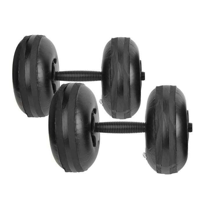 Haltère Réglable Portable Rempli d'Eau de Fitness Femme Poids 8-10kg Équipement de Yoga pour Formation des Muscles des Bras-CER