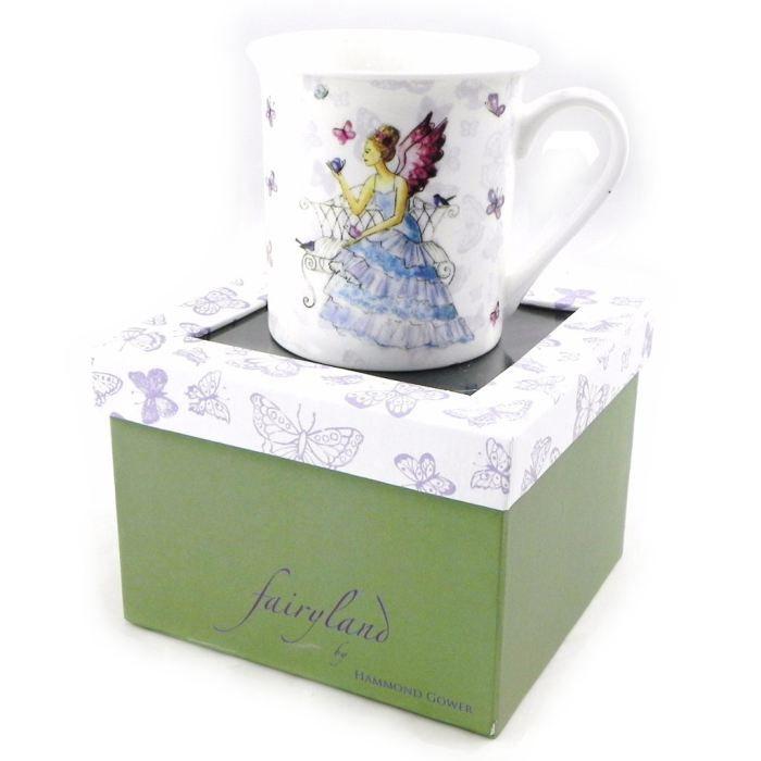 Mug porcelaine -Fairy Dreams- bleu