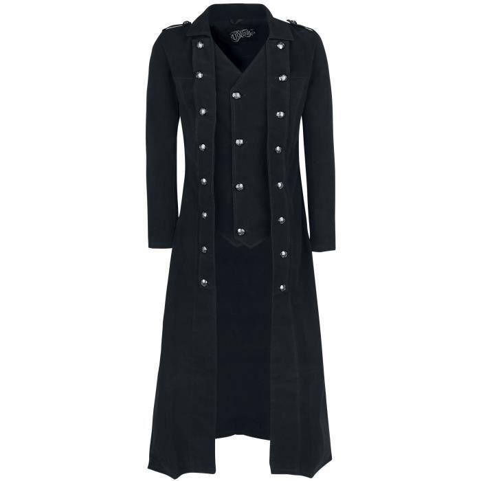 Vixxsin Manteau Long Manteau d'hiver noir