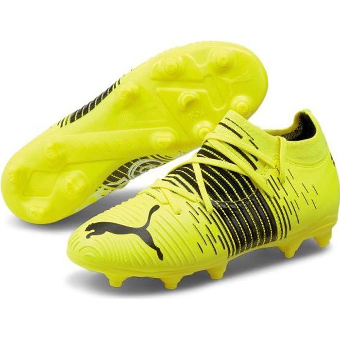 Chaussures de football enfant Puma Future Z 3 1 FG/AG - jaune fluo/noir/blanc - 32