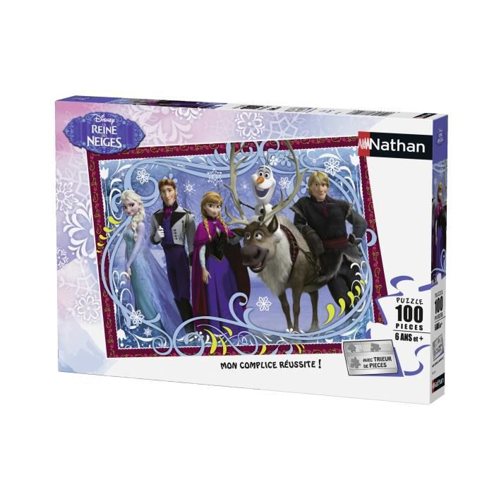 LA REINE DES NEIGES Puzzle Photo Famille 100 pcs - Disney