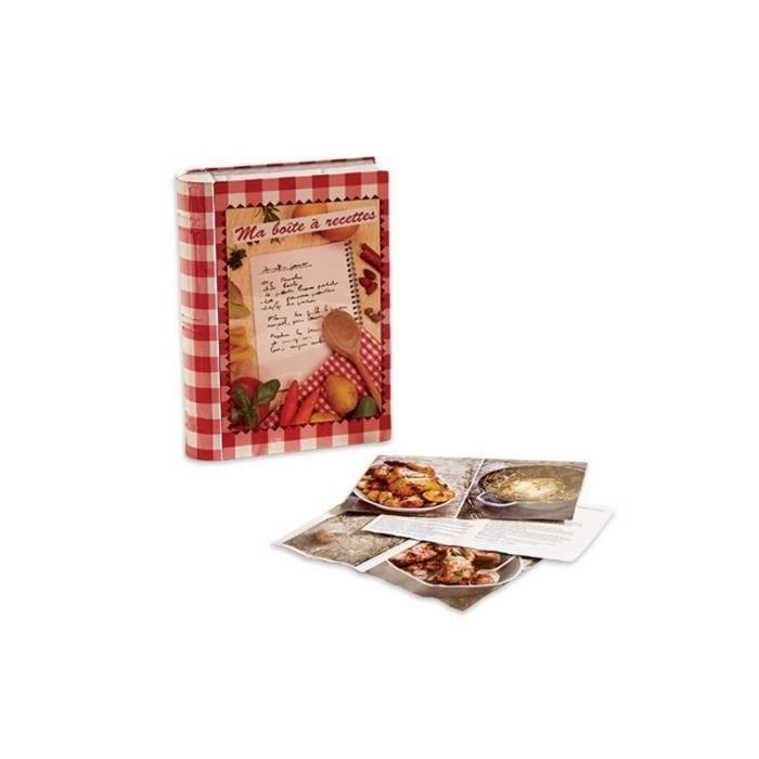 Livre boîte à recettes métal dimensions 24 x 17 x 5 cm
