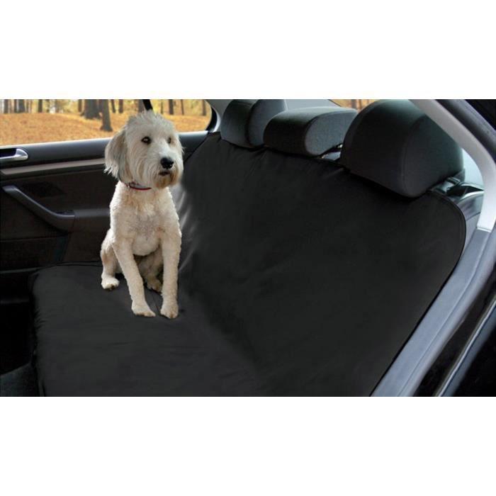 Couverture de protection de siège voiture pour chien en tissu imperméable (Noir)