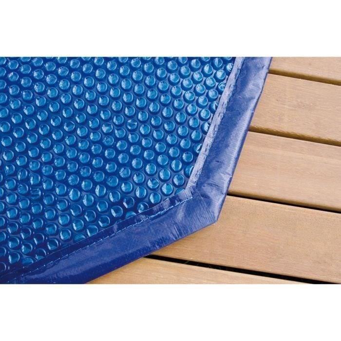 UBBINK Bâche à bulles bordée pour piscine 300x490 - Bleu
