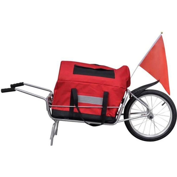 Remorque vélo mono roue avec sac Remorque de vélo Remorque de bicyclette Remorque à vélo
