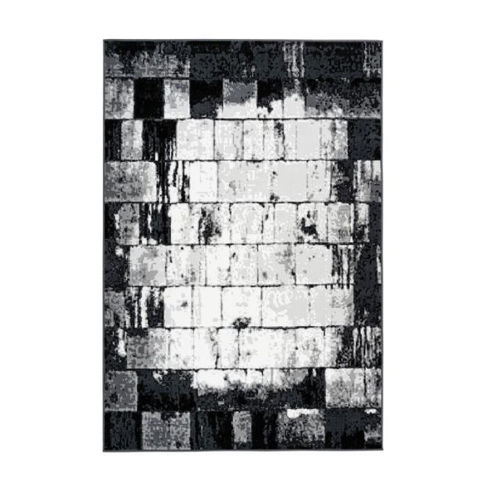 Tapis Vintage à Poils Courts -esperanto Iii- Gris - Paris Prix 200 x 290 cm