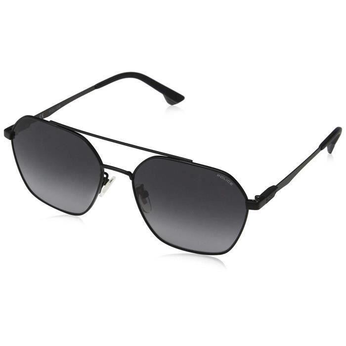 Police Sunglasses Vibe 2 Montures de Lunettes, Noir (Semi Matt Black/Grey), 57.0 Homme - SPL771