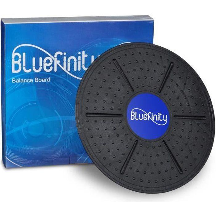 Bluefinity Balance Board Plateau équilibre jusqu'à 150 kg Diamètre: 36 cm planche de thérapie coordination motricité, noir