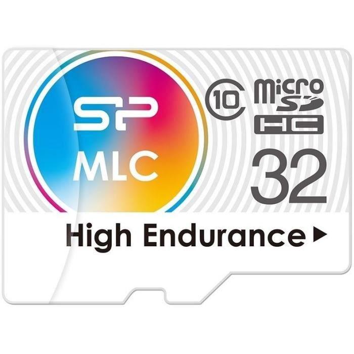 Silicon Power Carte mémoire Microsd High endurance 32 Go