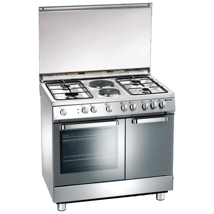 Tecnogas D923XS, Built-in cooker, Acier inoxydable, Rotatif, Devant, Cuisinière à gaz, Acier inoxydable