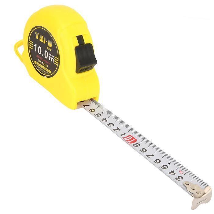 Grand Ruban à Mesurer 10 Mètres Bricolage Professionnel Rouleau de Mesure