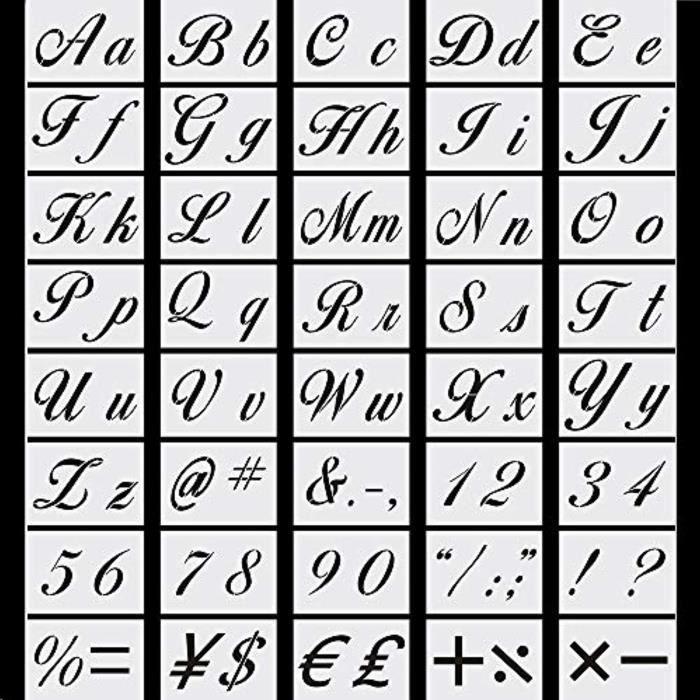 Jeu De Coloriage Lzzrp Art Lettre Pochoirs 40pcs Modeles D Alphabet Reutilisables Pochoirs En Plastique Lavables Artisanat Calligra Achat Vente Jeu De Coloriage Dessin Pochoir Cdiscount