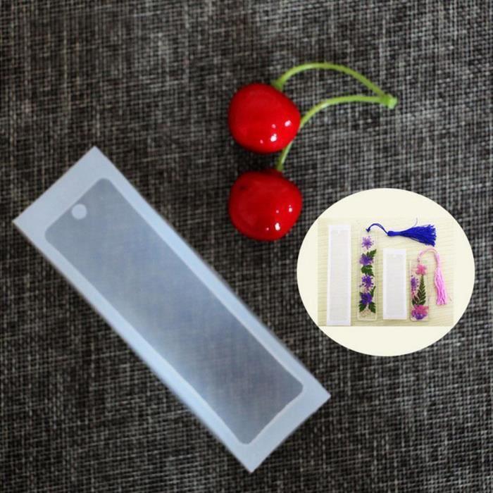 de fabrication de bijoux Moule en résine Rectangle Signet Moule en silicone