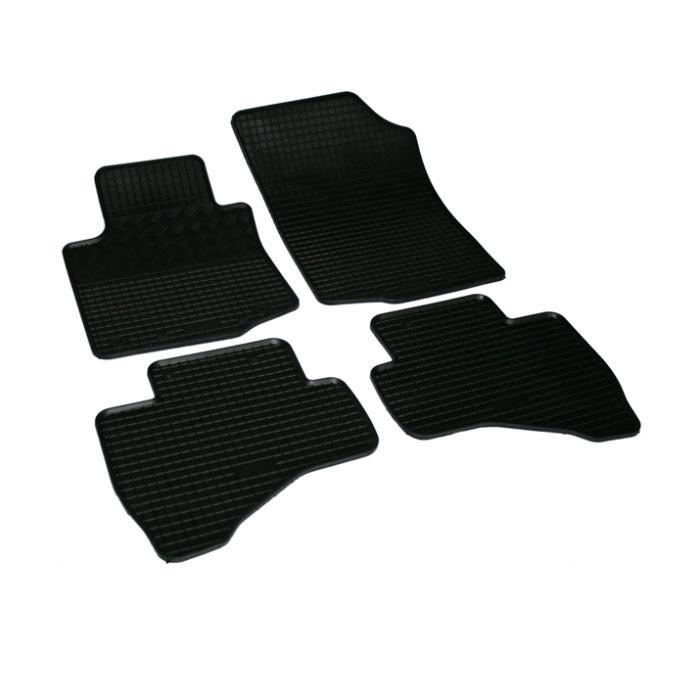 lot de 4 tapis de sol caoutchouc sur mesure peugeot 107 et citroen c1 a partir de 2005 achat. Black Bedroom Furniture Sets. Home Design Ideas