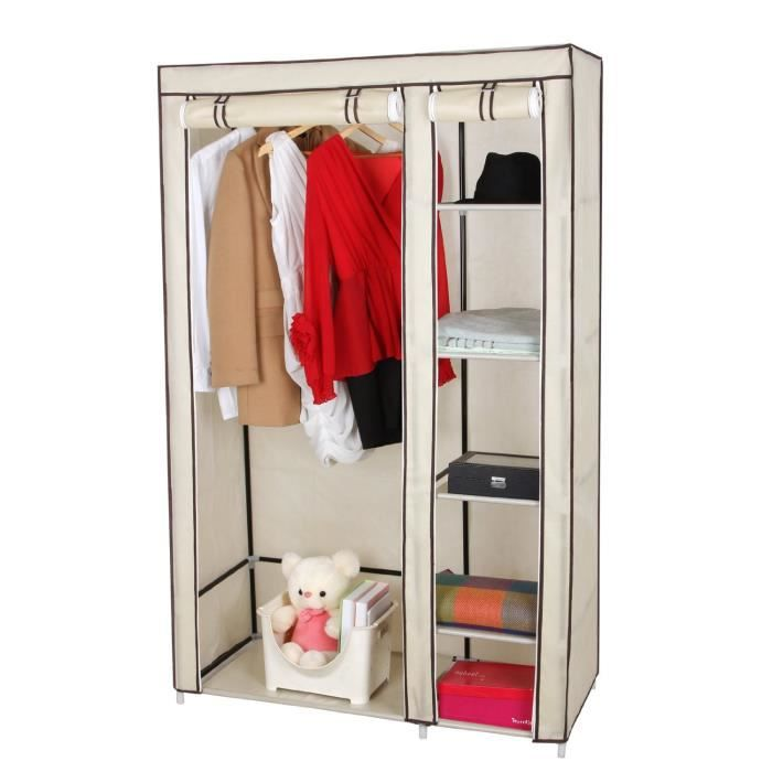 etag re armoire box chaussure penderie 175 x 110 x 45cm achat vente housse de rangement. Black Bedroom Furniture Sets. Home Design Ideas