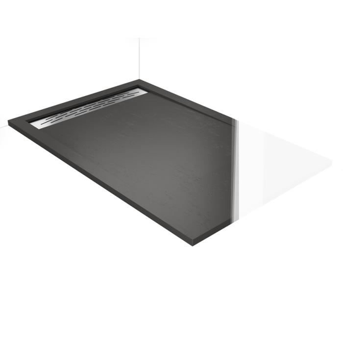 receveur douche a l 39 italienne caniveau quartz 100x190 aquarell achat vente douche receveur. Black Bedroom Furniture Sets. Home Design Ideas