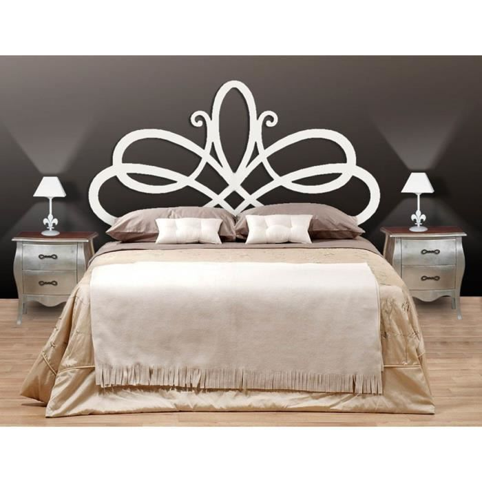 t te de lit en fer forg mod le petra achat vente t te de lit cdiscount. Black Bedroom Furniture Sets. Home Design Ideas