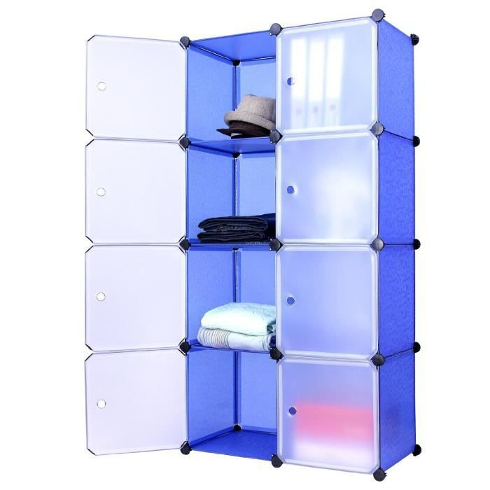 armoire box etagere meuble plastique sur roues achat vente dressing penderie cdiscount. Black Bedroom Furniture Sets. Home Design Ideas