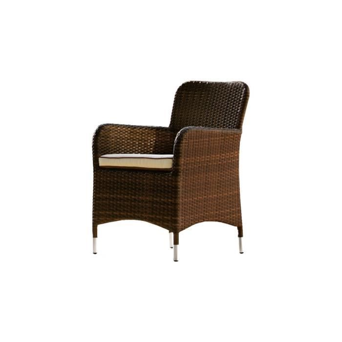 fauteuil arrondi aluminium r sine tress e noyer achat vente fauteuil jardin fauteuil arrondi. Black Bedroom Furniture Sets. Home Design Ideas