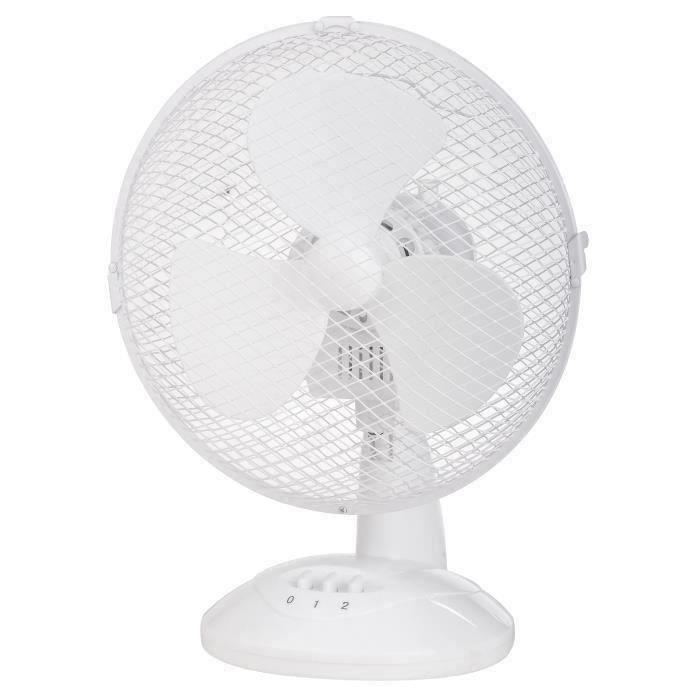 VENTILATEUR HT Ventilateur de Table - 30 Watts - Ø 23 Cm - 2 V