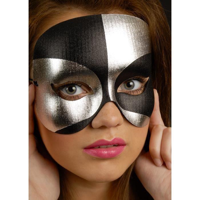 MASQUERADE masque yeux bal masqué Déguisement Masque transparent fleur noir.