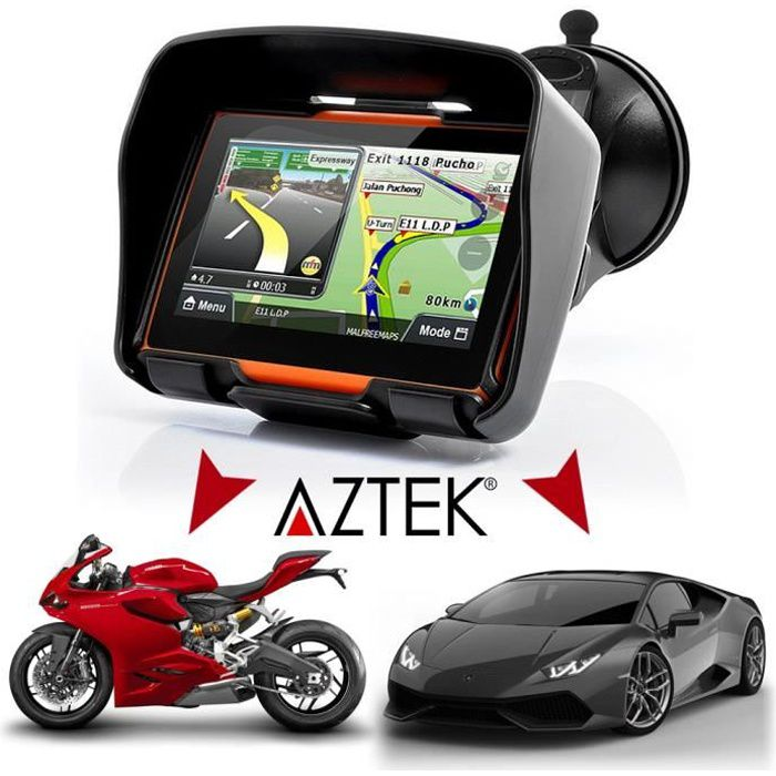 aztek 4 3 gps 4en1 moto camping car camion voiture. Black Bedroom Furniture Sets. Home Design Ideas