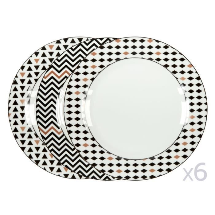 assiettes plates porcelaine achat vente assiettes plates porcelaine pas cher cdiscount. Black Bedroom Furniture Sets. Home Design Ideas