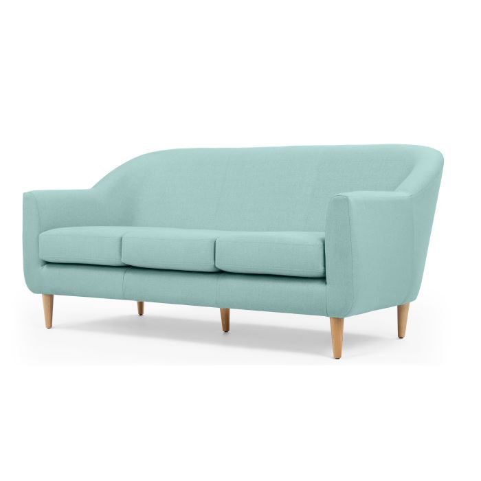 tubby canap 3 places bleu turquoise achat vente. Black Bedroom Furniture Sets. Home Design Ideas