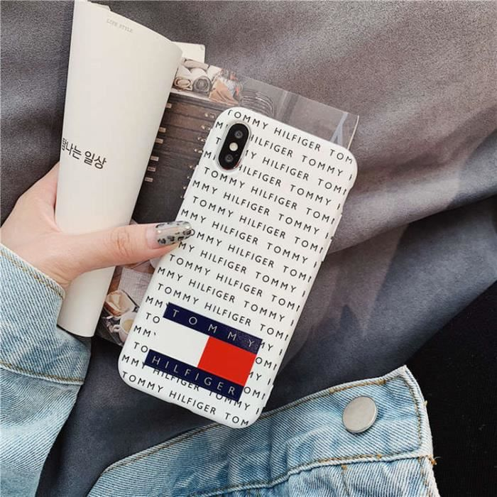 coque iphone xs max tommy hilfiger blanc antichoc