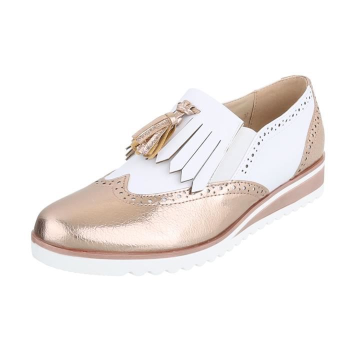 Chaussures femme flâneurs Moderne or blanc 41