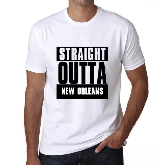 T-SHIRT Straight Outta New orleans, Homme Tshirt