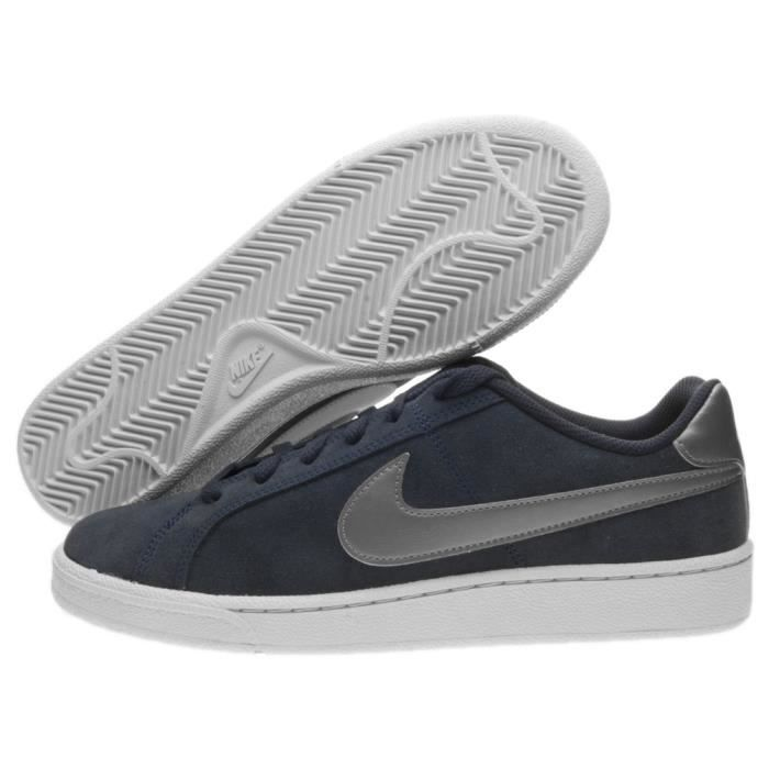 Chaussures Designer NIKE Tennis Nike cuir noire Court royale