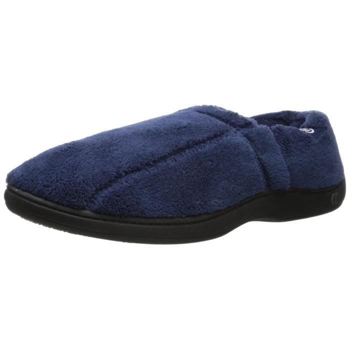 Men's Microterry Slip On Slippers With Memory Foam HZ9VJ Taille-L